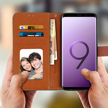 Acheter Avizar Etui folio Bleu Éco-cuir pour Samsung Galaxy S9 Plus