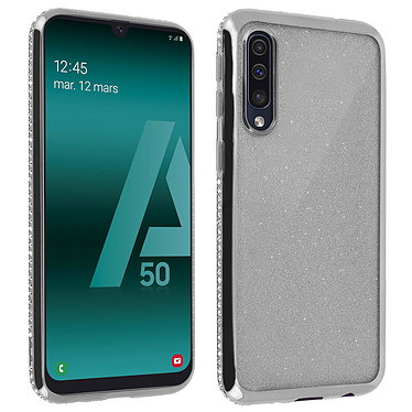 Avizar Coque Argent pour Samsung Galaxy A50 Coque Argent Samsung Galaxy A50