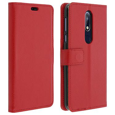 Avizar Etui folio Rouge pour Nokia 7.1 Etui folio Rouge Nokia 7.1