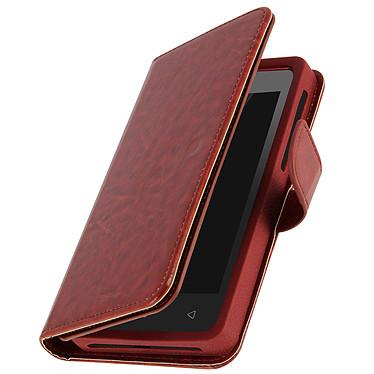 Avizar Etui folio Marron pour Smartphones de 4.3' à 4.7' pas cher