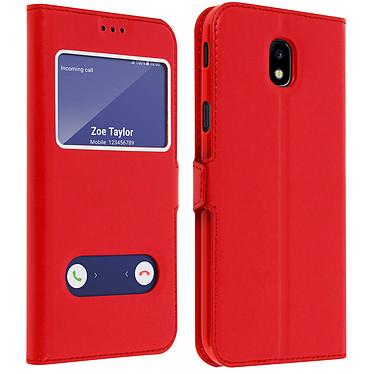 Avizar Etui folio Rouge pour Samsung Galaxy J5 2017 pas cher