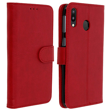 Avizar Etui folio Rouge pour Samsung Galaxy M20 Etui folio Rouge Samsung Galaxy M20