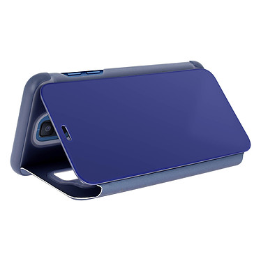 Avis Avizar Etui folio Bleu Design Miroir pour Samsung Galaxy A6