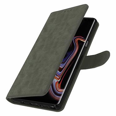 Avizar Etui folio Gris pour Samsung Galaxy Note 9 pas cher