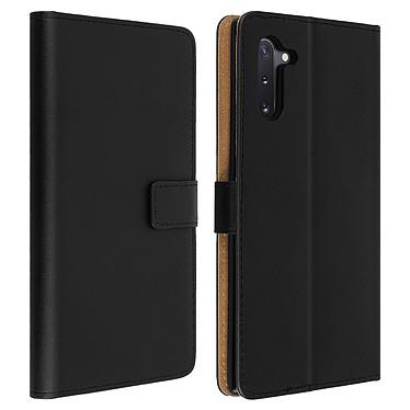 Avizar Etui folio Noir Cuir véritable pour Samsung Galaxy Note 10 Etui folio Noir cuir véritable Samsung Galaxy Note 10