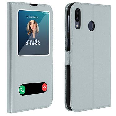 Avizar Etui folio Argent pour Samsung Galaxy M20 Etui folio Argent Samsung Galaxy M20
