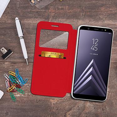 Acheter Avizar Etui folio Rouge à fenêtre pour Samsung Galaxy A6 Plus