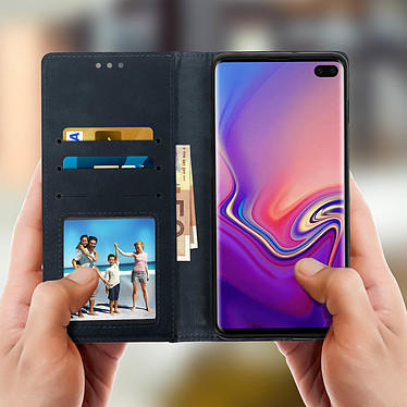 Acheter Avizar Etui folio Bleu Nuit Porte-Carte pour Samsung Galaxy S10 Plus