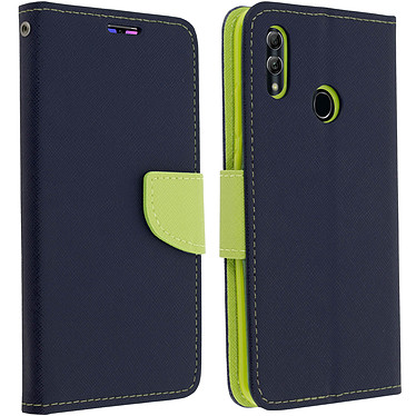 Avizar Etui folio Bleu Nuit Fancy Style pour Huawei P Smart 2019 , Honor 10 Lite Etui folio Bleu Nuit Fancy Style Huawei P Smart 2019 , Honor 10 Lite