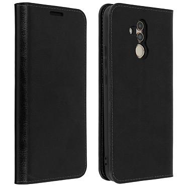 Avizar Etui folio Noir Cuir véritable pour Huawei Mate 20 Lite Etui folio Noir cuir véritable Huawei Mate 20 Lite