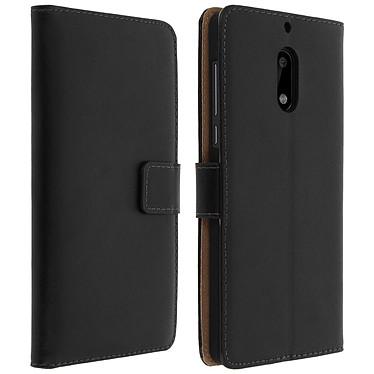 Avizar Etui folio Noir pour Nokia 6 pas cher