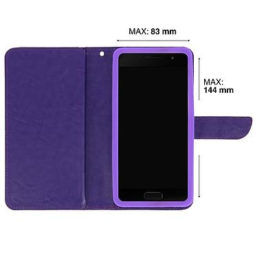 Avis Avizar Etui folio Violet pour Smartphones de 5.3' à 5.5'