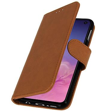 Avizar Etui folio Camel pour Samsung Galaxy S10e pas cher