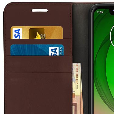 Avis Avizar Etui folio Marron pour Motorola Moto G7 Play