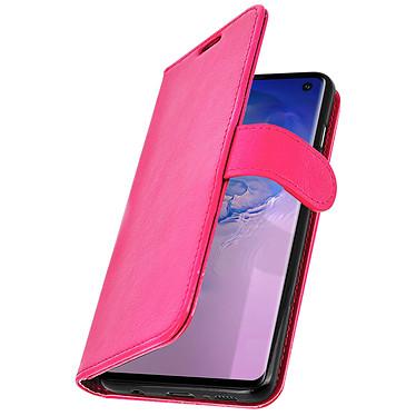 Avizar Etui folio Rose Éco-cuir pour Samsung Galaxy S10 pas cher