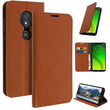 Avizar Etui folio Camel pour Motorola Moto G7 , Motorola Moto G7 Plus pas cher