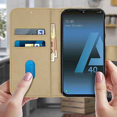 Acheter Avizar Etui folio Dorée pour Samsung Galaxy A40