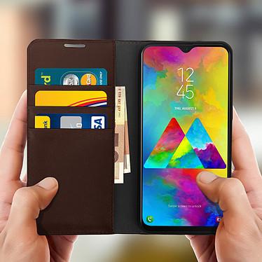 Acheter Avizar Etui folio Marron pour Samsung Galaxy M20