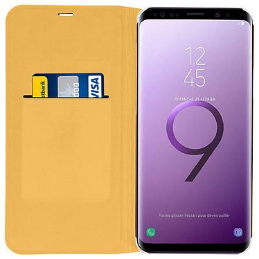 Acheter Avizar Etui folio Dorée pour Samsung Galaxy S9 Plus