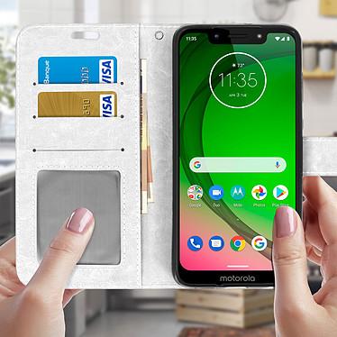 Acheter Avizar Etui folio Blanc pour Motorola Moto G7 , Motorola Moto G7 Plus