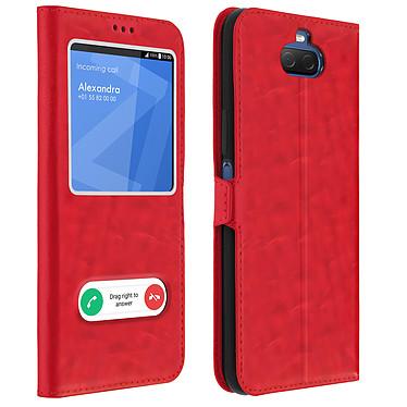 Avizar Etui folio Rouge pour Sony Xperia 10 Plus Etui folio Rouge Sony Xperia 10 Plus