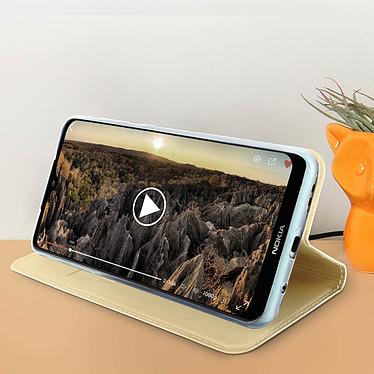 Acheter Avizar Etui folio Dorée pour Nokia 7.2 , Nokia 6.2