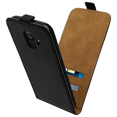 Avizar Etui à clapet Noir pour Samsung Galaxy A6 pas cher