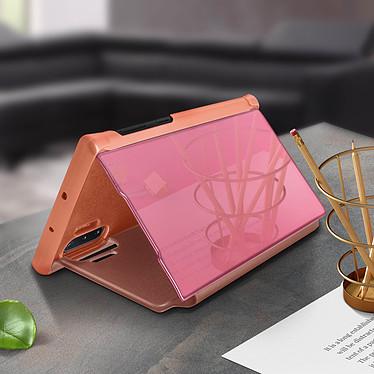 Acheter Avizar Etui folio Rose Champagne Design Miroir pour Samsung Galaxy Note 10 Plus