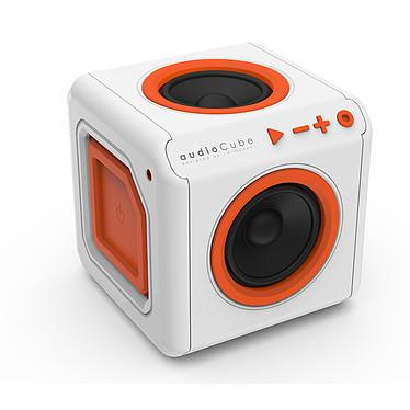 Allocacoc Enceinte Surround Portable Audiocube Blanc / Orange Bluetooth  ALL_3902EUACPT Un objet élégant avec une grande fidélité sonore