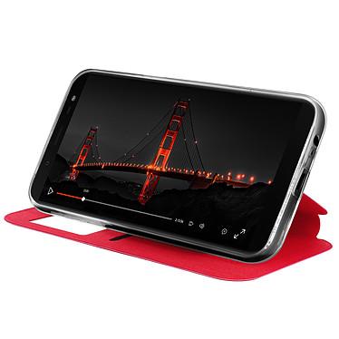Avis Avizar Etui folio Rouge à fenêtre pour Samsung Galaxy J6