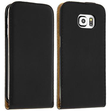 Avizar Etui à clapet Noir pour Samsung Galaxy S6 Edge Etui à clapet Noir Samsung Galaxy S6 Edge
