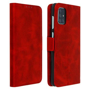 Avizar Etui folio Rouge pour Samsung Galaxy A71 Etui folio Rouge Samsung Galaxy A71