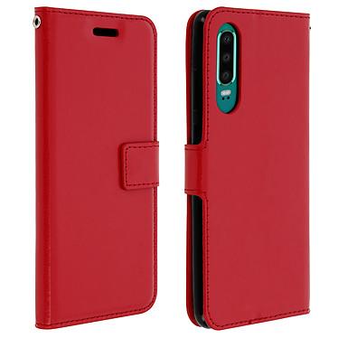 Avizar Etui folio Rouge pour Huawei P30 Etui folio Rouge Huawei P30