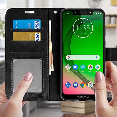 Acheter Avizar Etui folio Noir pour Motorola Moto G7 , Motorola Moto G7 Plus