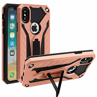 Avizar Coque Rose Champagne Hybride pour Apple iPhone X , Apple iPhone XS pas cher