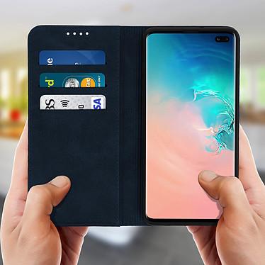 Acheter Avizar Etui folio Bleu Nuit Vieilli pour Samsung Galaxy S10 Plus
