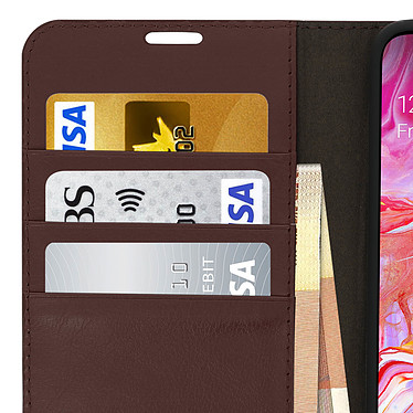 Avis Avizar Etui folio Marron pour Samsung Galaxy A70