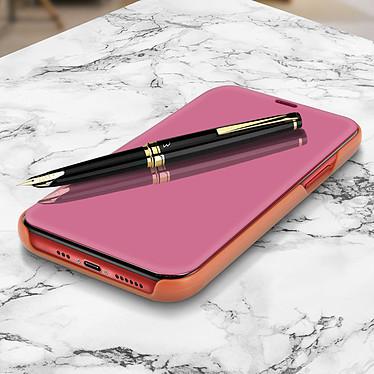 Avizar Etui folio Rose Champagne Design Miroir pour Apple iPhone 11 Pro Max pas cher