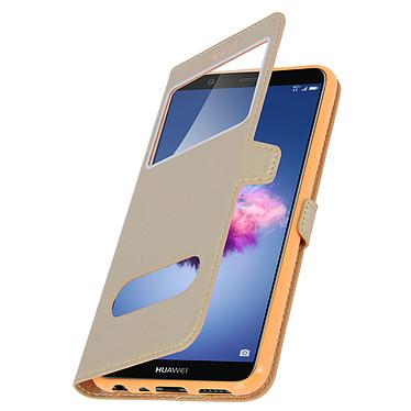 Avizar Etui folio Dorée Éco-cuir pour Huawei P Smart pas cher