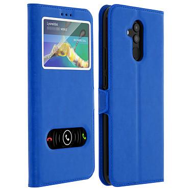 Avizar Etui folio Bleu Éco-cuir pour Huawei Mate 20 lite Etui folio Bleu éco-cuir Huawei Mate 20 lite