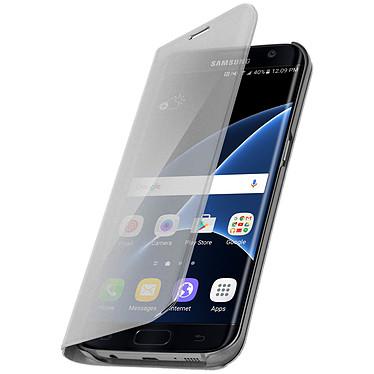 Avizar Etui folio Argent pour Samsung Galaxy S7 Edge Etui folio Argent Samsung Galaxy S7 Edge