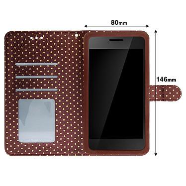 Acheter Avizar Etui folio Marron pour Smartphones de 5.3' à 5.5'