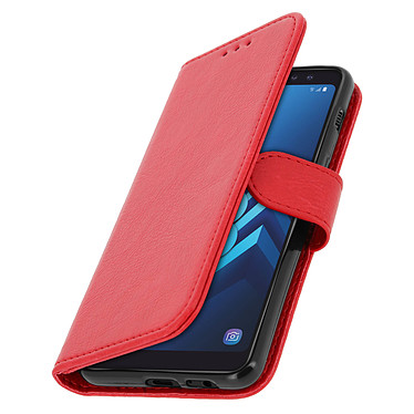 Avizar Etui folio Rouge Portefeuille pour Samsung Galaxy A8 pas cher