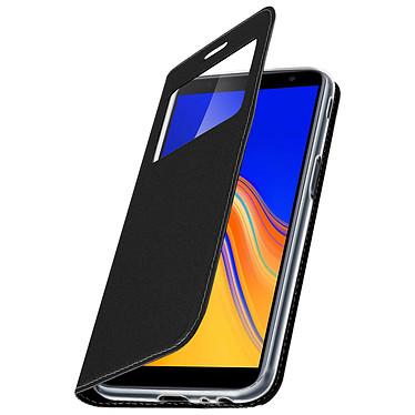 Avizar Etui folio Noir Fenêtre Affichage pour Samsung Galaxy J6 Plus pas cher