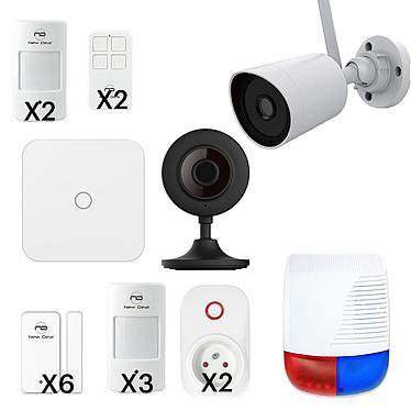 NEW DEAL PROTECTION OR LAN/WIFI/GSM Pack alarme Lan/Wifi/GSM avec 16 accessoires et 2 caméras de sécurité