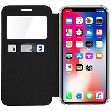 Acheter Avizar Etui folio Noir à fenêtre pour Apple iPhone X , Apple iPhone XS