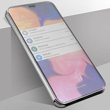 Avizar Etui folio Argent pour Samsung Galaxy A10 pas cher
