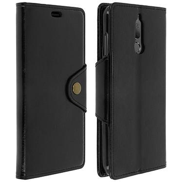 Avizar Etui folio Noir Éco-cuir pour Huawei Mate 10 Lite pas cher