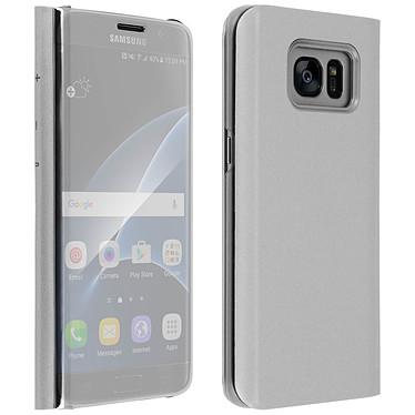 Avizar Etui folio Argent pour Samsung Galaxy S7 Edge pas cher