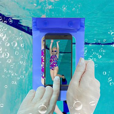 Avis Avizar Housse étanche Bleu pour Smartphones de taille max : 167,6 x 88 mm